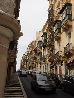 Steep Valletta street