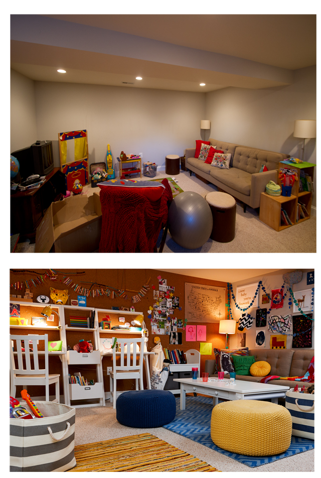 Land of nod basement makeover honest to nod Land of nod playroom ideas
