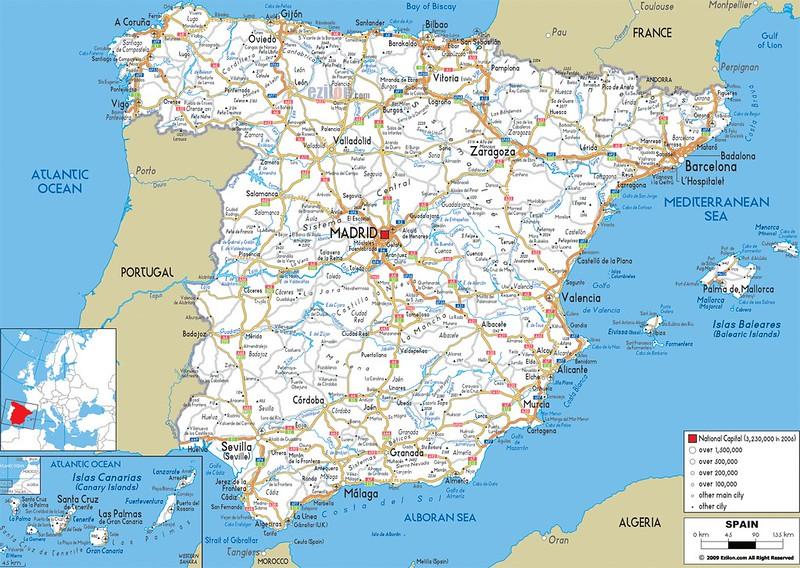mapa de espanha sul Mapas de Espanha | Roteiros e Dicas de Viagem mapa de espanha sul