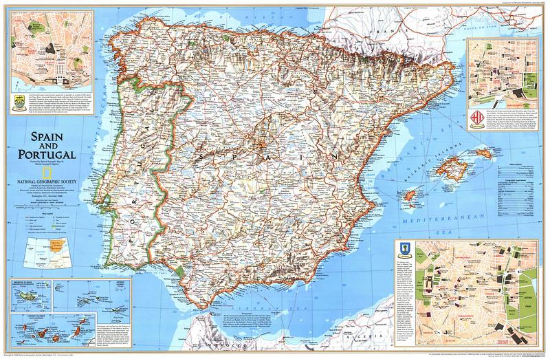 mapa sul espanha portugal Mapas de Espanha | Roteiros e Dicas de Viagem mapa sul espanha portugal