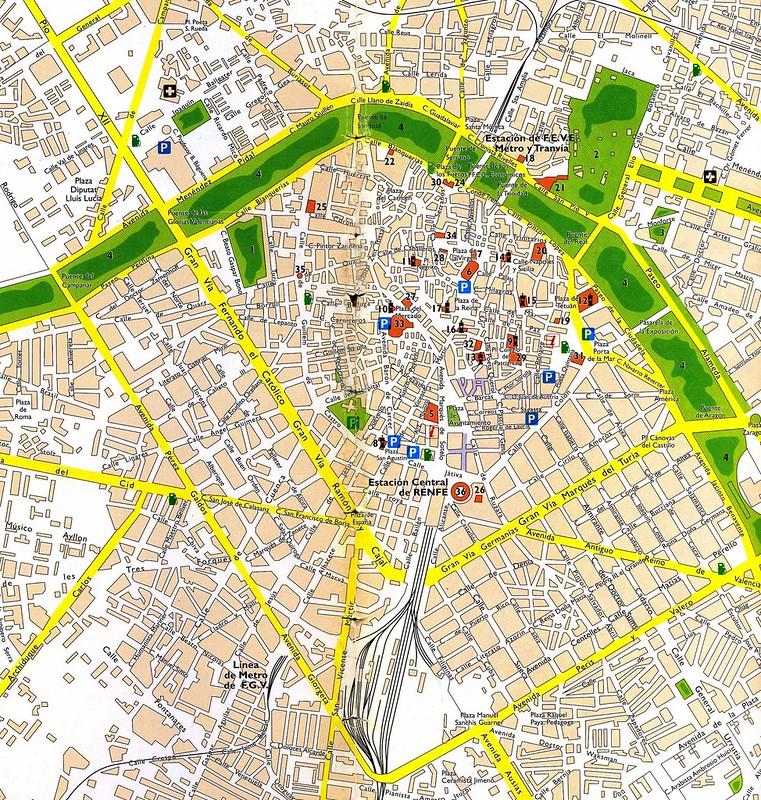 mapa de valencia espanha Mapas de Valencia, Espanha mapa de valencia espanha