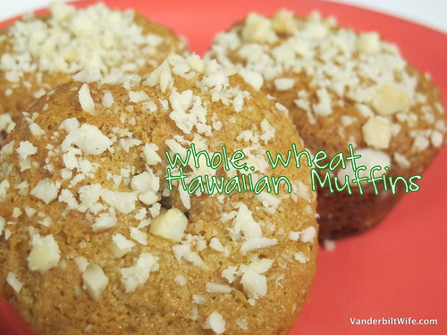 Whole Wheat Hawaiian Muffins at VanderbiltWife.com