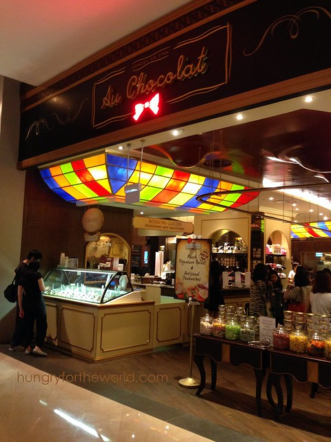 Au Chocolat frontage at Marina Bay Sands