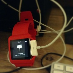 Charging my watch. So 1990s. #watch #iPod #1990s