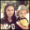 My cousin Danielle and her little one, Joey, who joined me at the San Diego zoo this morning. #besthatever
