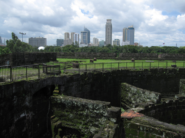 View of modern Manila from Intramuros