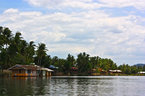 raft bungalows on Don Khon