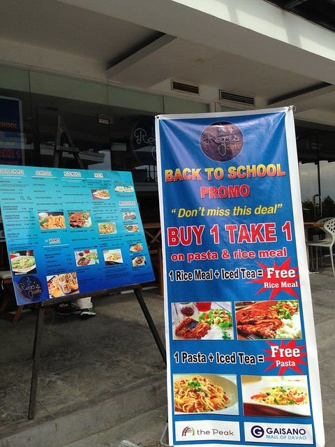 Back to School promo at Rego's Cafe The Peak Gaisano Mall Davao