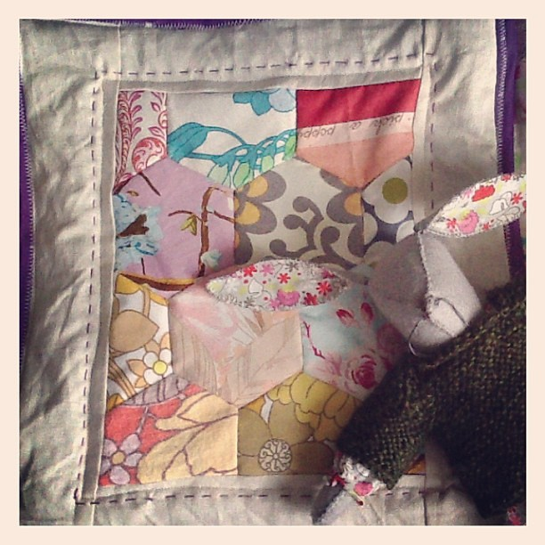 Is there a law that states that  a bunny can only have one quilt? Is there? Huh? *twitch*