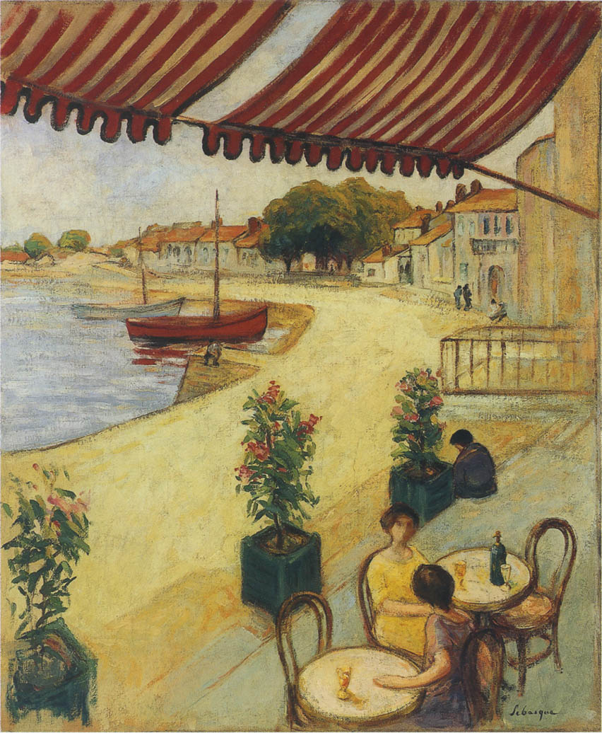 Cafe sur la Port by Henri Lebasque