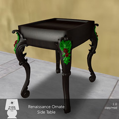 [Park Place] Renaissance Ornate Side Table