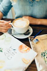 coffee & watercolour