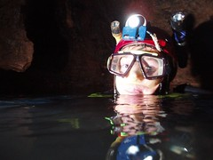 Greg in the Sump pool of Chamber 20 Image