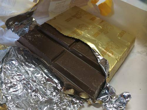 Torres del Paine: trek du W. Jour 3: rien de tel qu'un bout de chocolat en guise de dessert pour se donner un peu d'énergie et de...réconfort avant d'aller se mettre sous sa tente ;)