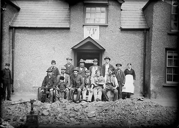 Workers at the Black Lion, Conwy
