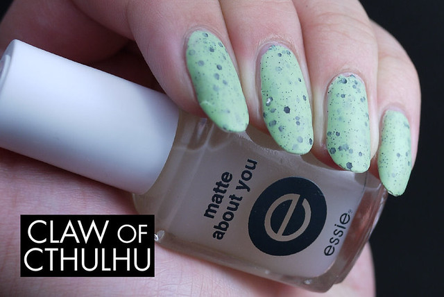 Illamasqua Mottle Swatch (with Essie Matte About You)