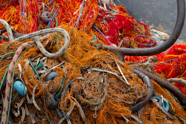Colorful Fishing Nets - Bodrum, Turkey