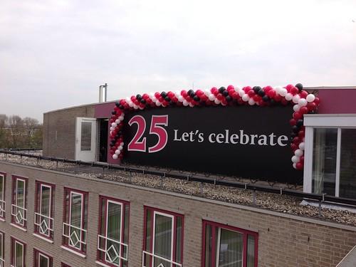 Ballonslinger 25 Jarig Jubileum Carlton Oasis Hotel Spijkenisse