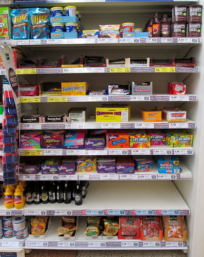 First Set of US Shelves, Kirkcaldy Supermarket
