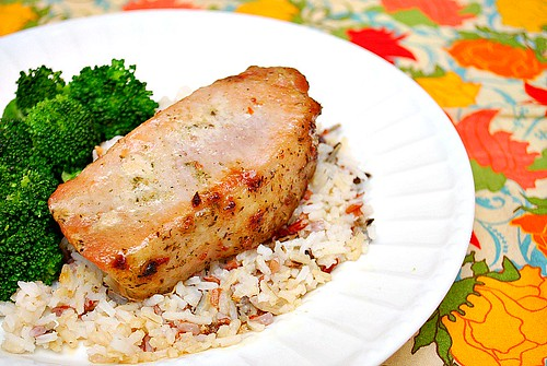 Greek Rubbed Pork Chops