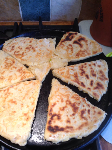Cheesy potato scones.