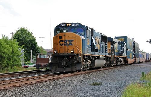 csx cccstl bigfour railroad newyorkcentral nyc railway greenwichsubdivision conrail newlondon ohio emd sd70mac intermodal train 4563