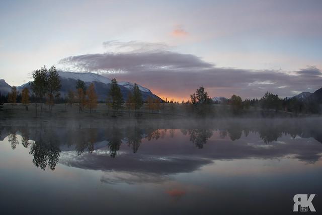Misty Sunrise at Quarry Lake