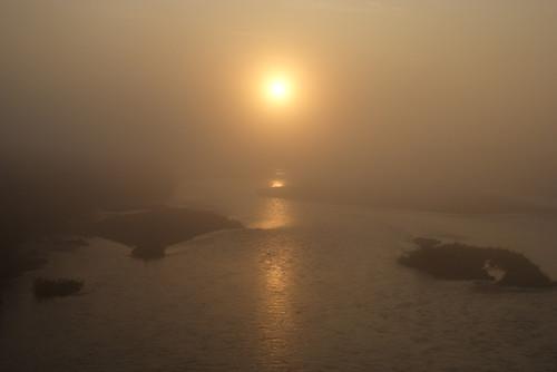 十勝川の朝