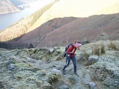 Helen climbing Helvelyn Image