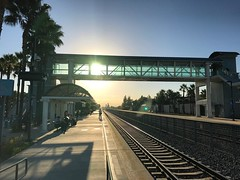I really like the new camera on the iPhone 7. I'm waiting for the train this morning. Happy Wednesday!