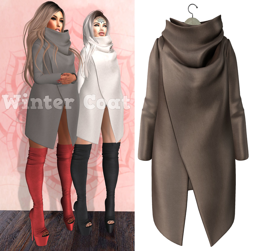 EmilyC Winter Coat // Brown - SecondLifeHub.com