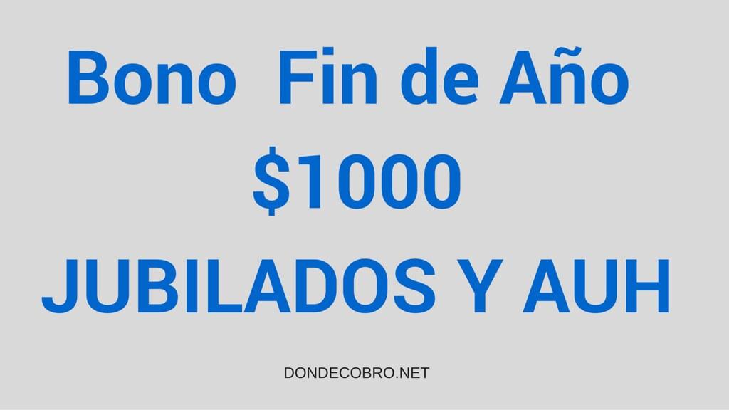 Bono de Fin de Año $1000