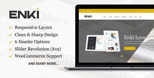 Enki ultimate corporate WordPress theme v1.0.5