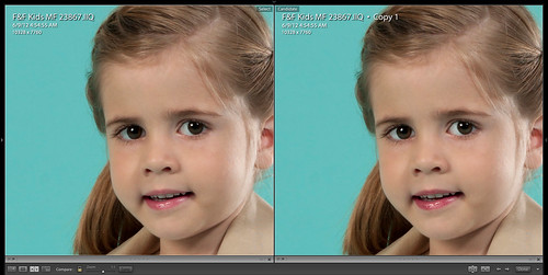 Compare Enhanced Eyes and Lips