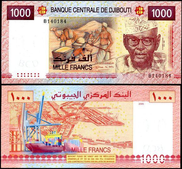 1000 Frankov Džibutsko 2005, Pick 42