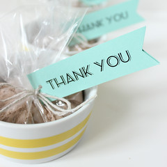 Chocolate Cake Shower Favors