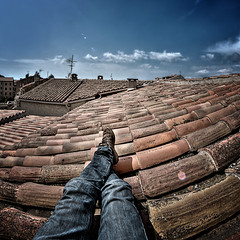 Lazing on the roof tops