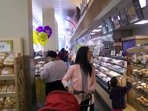 Baked goods and a child who wants a doughnut, Giant Supermarket, 300 H Street NE
