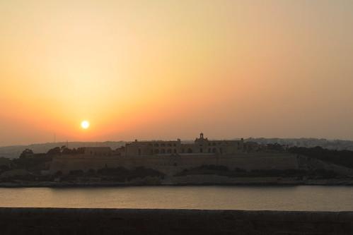 Sunset over Fort Manoel