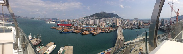panaroma of Korea port - lotte departmental store