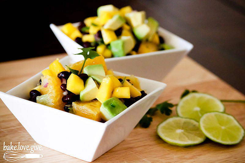 Black Bean, Avocado & Mango Salsa