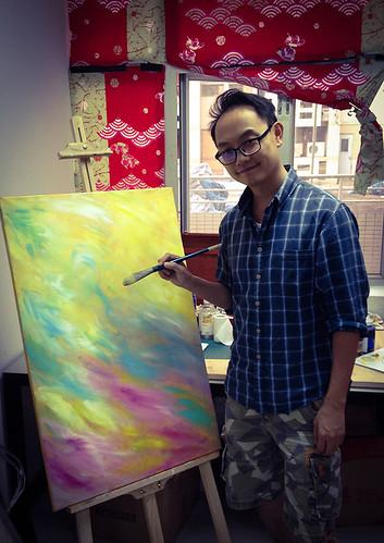 Painting Gwan Gung: Work in Progress