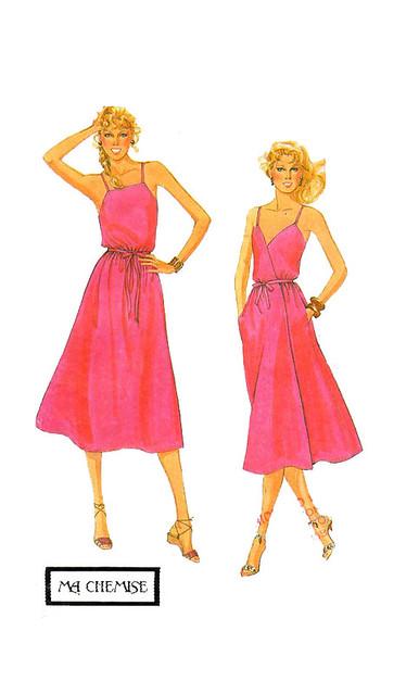 McCalls 7994 Wrap Dress Reversible Sewing Pattern