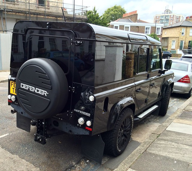 Defender with wrap-around glazing