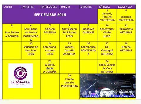 Orquesta Panorama Calendario.Disponibles Las Fechas De Panorama Y La Formula Orquestas Y Fiestas