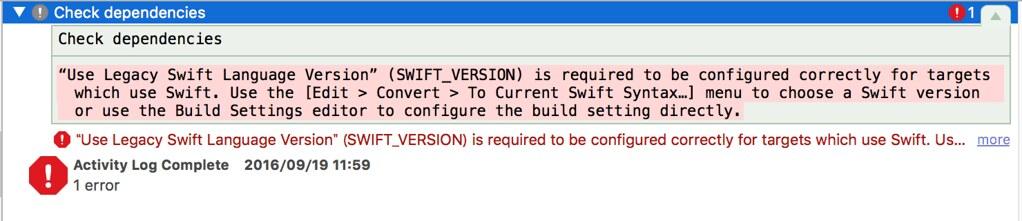 Use Legacy Swift Language Version