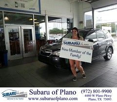 Happy Anniversary to Melanie on your #Subaru #Forester from Andrew Caserta at Subaru of Plano!