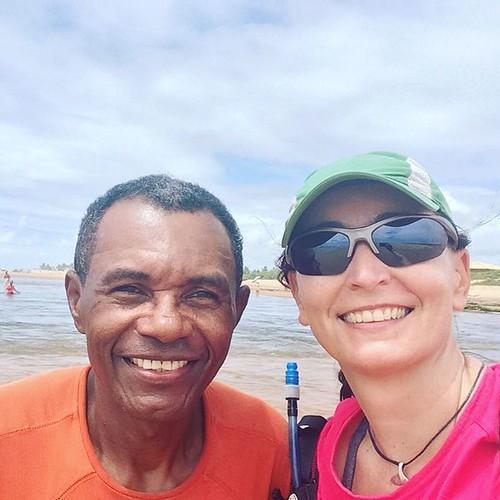 Aroldo, ciclista que nos ajudou a cruzar o Rio Subaúma #amigosdebike #pedalada #Bahia