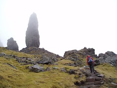 Helen on the way up top the Old Man of Storr Image