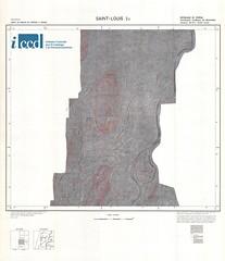 Carte du bassin du Sénégal a 1/50000. Feuille NE-28-II: Saint-Louis 2c